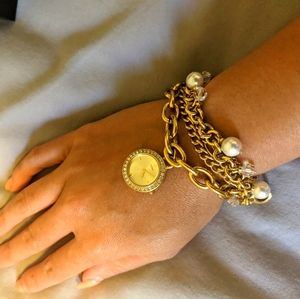 Guess gold watch bracelet